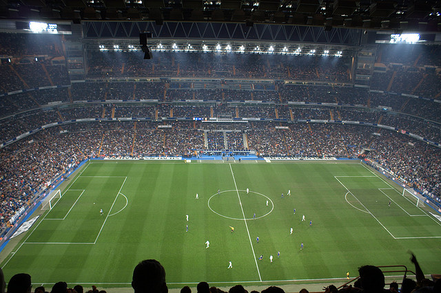 April 2014: Santiago Bernabeu Stadium