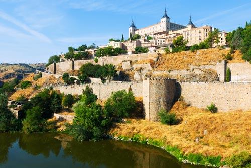 Panoramic of Alcazar Toledo