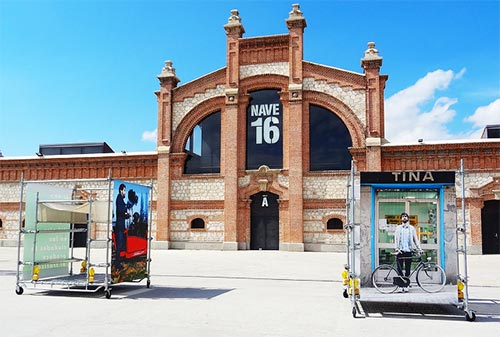 Panoramic of the building 16 in Matadero de Madrid