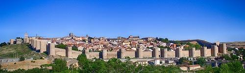 Panoramic of Avila Walls