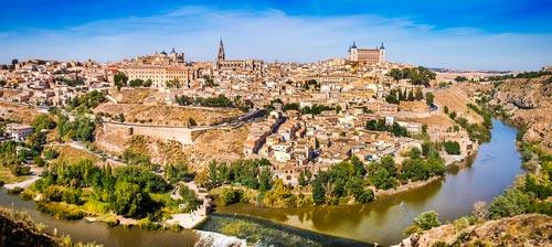 Panoramic of Toledo, Spain