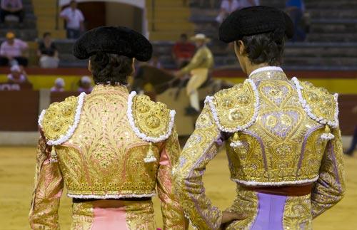 Two Bullfighters in Madrid Bullring