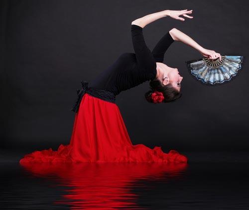 Flamenco dancer performing in Madrid