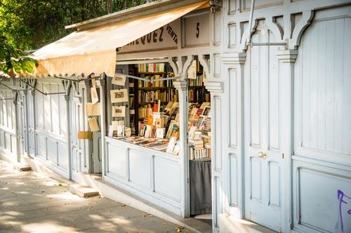 Madrid Book's Fair stalls in the Retiro Park