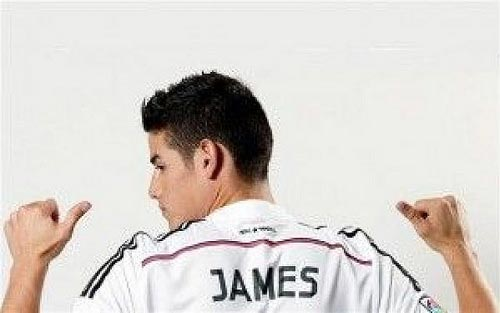 James Rodriguez wearing Real Madrid uniform