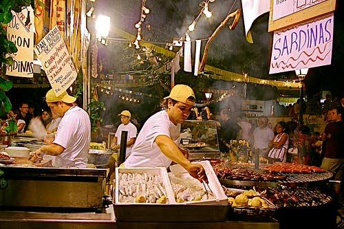 Food Stall in La Paloma Festival Madrid