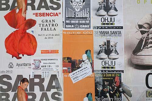 Posters of Sara Baras show