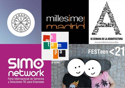 Different logos of the events taking place in October 2014 in Madrid