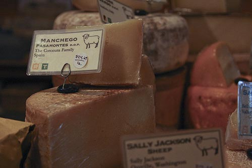 Different pieces of Manchego Cheese