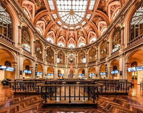Inside Madrid Stock Exchange Palace