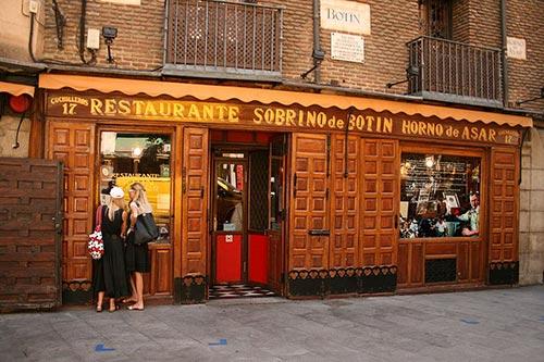 Entrance of Restaurante Casa Botín