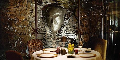 Inside Santceloni Resturant