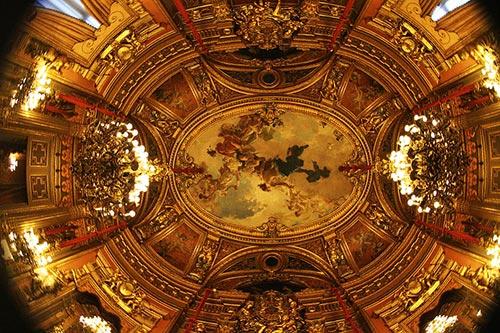 Ceiling inside Linares Palace, Casa América Madrid